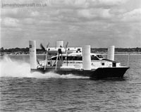 First-day certificates and trials of the VA-3 hovercraft - High-speed trials on the Solent (Nick Gurney).