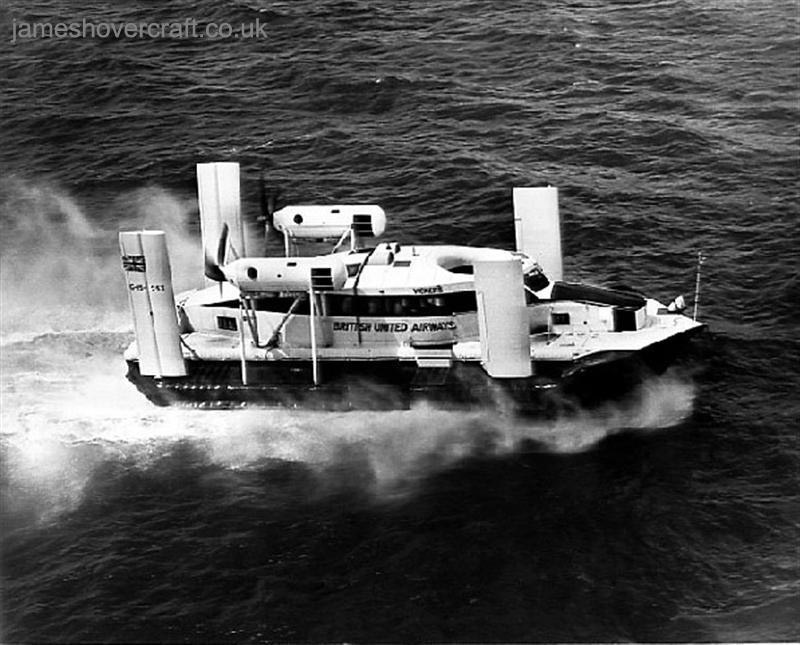 First-day certificates and trials of the VA-3 hovercraft - The VA.3 on choppy seas undergoing cross-tide trials (Nick Gurney).