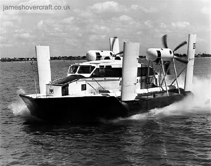 First-day certificates and trials of the VA-3 hovercraft - Cruising off Netley Beach (Nick Gurney).