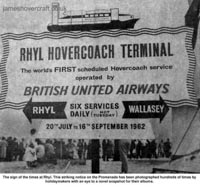 Liverpool Echo article about the VA-3 service - The world's first hovercoach - advert for the VA3 service from Rhyl (Wales) to Wallasey (England) (Paul Greening).