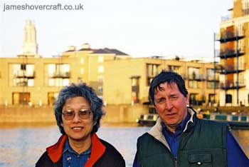 About me - My parents quayside at Limehouse Basin, London, after a sailing trip up the Thames (James Rowson).