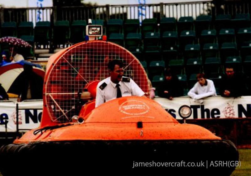 Association of Search and Rescue Hovercraft (Great Britain) - Giving a demonstration at HMS Sultan summer show (Paul Hiseman).