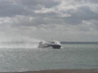 Hoverwork British Hovercraft Technology BHT-130 - Arriving at Southsea hoverport (James Rowson).
