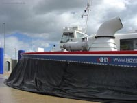 Hoverwork British Hovercraft Technology BHT-130 - Resting on the pad at Southsea (James Rowson).