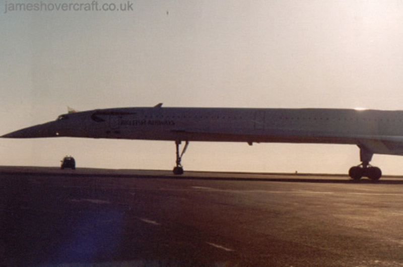 Concorde celebratory visit to Cardiff - G-BOAC at Cardiff 2003 (Kevin Galliford) (Kevin Galliford).