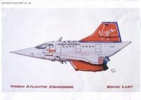 Concorde: Rob Henderson's Aircraft Caricatures