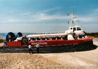 AP1-88 hovercraft with Hovertravel -   (The <a href='http://www.hovercraft-museum.org/' target='_blank'>Hovercraft Museum Trust</a>).