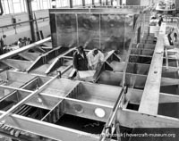 AP1-88 hovercraft during construction -   (The <a href='http://www.hovercraft-museum.org/' target='_blank'>Hovercraft Museum Trust</a>).