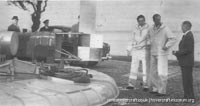 SRN1 fitted with a new jet turbine -   (The <a href='http://www.hovercraft-museum.org/' target='_blank'>Hovercraft Museum Trust</a>).