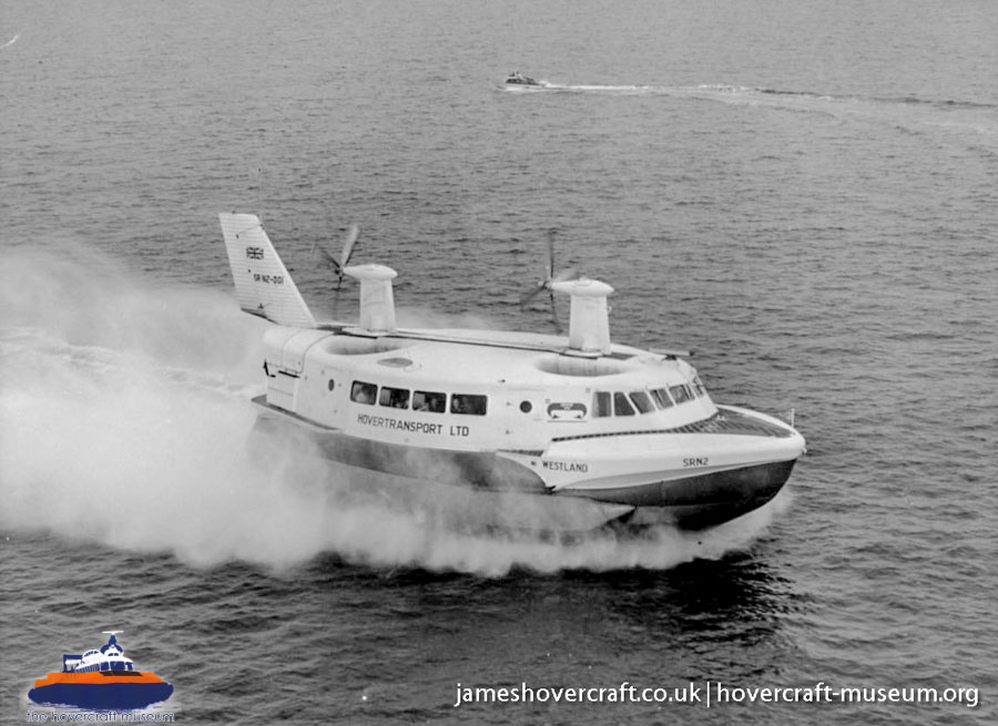 SRN2 in service -   (The <a href='http://www.hovercraft-museum.org/' target='_blank'>Hovercraft Museum Trust</a>).