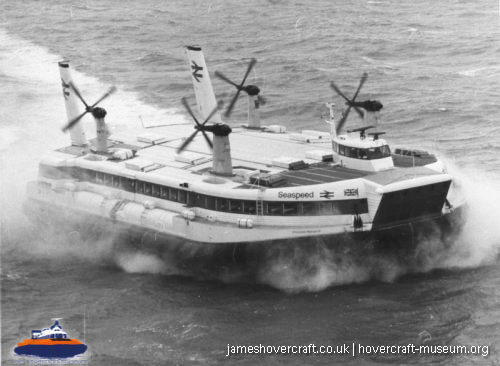 SRN4 The Princess Margaret (GH-2006) with Mark 2 skirt -   (The <a href='http://www.hovercraft-museum.org/' target='_blank'>Hovercraft Museum Trust</a>).