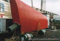 SRN4 The Princess Margaret (GH-2006) undergoing maintenance at Hoverspeed -   (The <a href='http://www.hovercraft-museum.org/' target='_blank'>Hovercraft Museum Trust</a>).