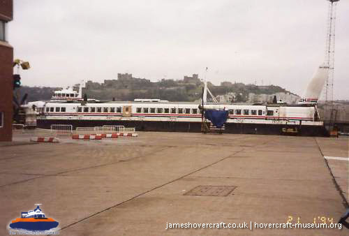 SRN4 The Princess Margaret (GH-2006) with Hoverspeed in the early 1990s -   (The <a href='http://www.hovercraft-museum.org/' target='_blank'>Hovercraft Museum Trust</a>).
