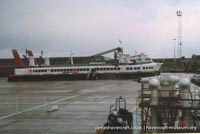SRN4 The Princess Margaret (GH-2006) with Hoverspeed in the late 1990s -   (The <a href='http://www.hovercraft-museum.org/' target='_blank'>Hovercraft Museum Trust</a>).