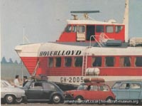 SRN4 Sure (GH-2005) with Hoverlloyd -   (The <a href='http://www.hovercraft-museum.org/' target='_blank'>Hovercraft Museum Trust</a>).