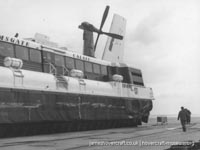 SRN4 Sure (GH-2005) with Hoverlloyd undergoing maintenance -   (The <a href='http://www.hovercraft-museum.org/' target='_blank'>Hovercraft Museum Trust</a>).