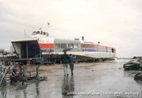 SRN4 Sure (GH-2005) being broken up at Dover -   (The <a href='http://www.hovercraft-museum.org/' target='_blank'>Hovercraft Museum Trust</a>).
