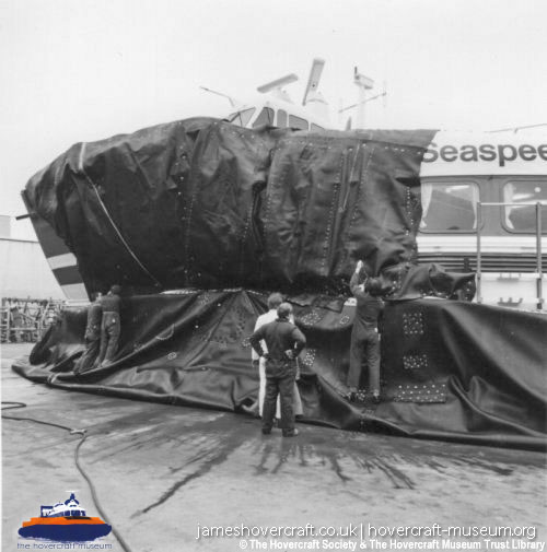 SRN4s damaged at sea -   (The <a href='http://www.hovercraft-museum.org/' target='_blank'>Hovercraft Museum Trust</a>).