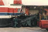 SRN4 The Princess Margaret in a fatal collision at Dover -   (The <a href='http://www.hovercraft-museum.org/' target='_blank'>Hovercraft Museum Trust</a>).