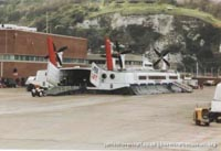 SRN4 hovercraft arriving at Dover -   (The <a href='http://www.hovercraft-museum.org/' target='_blank'>Hovercraft Museum Trust</a>).