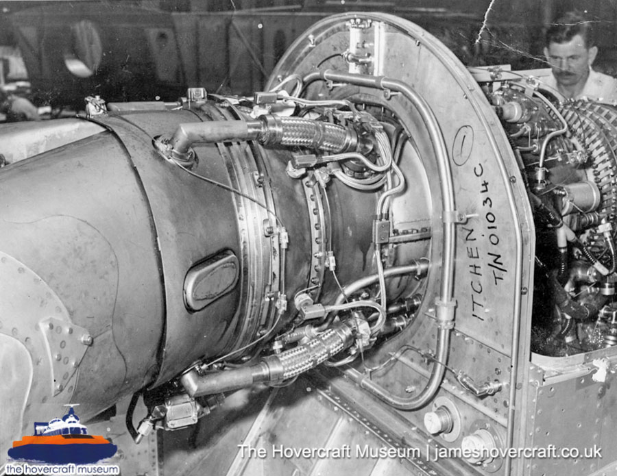 SRN6 close-up details - Engine (The Hovercraft Museum Trust).