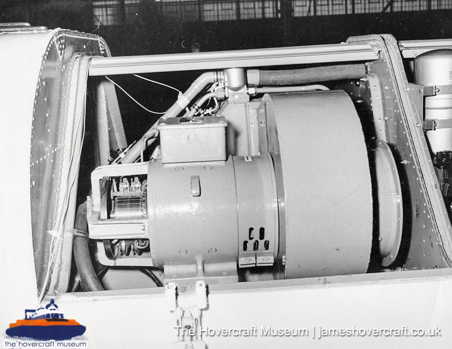 SRN6 close-up details - Electric motors (The Hovercraft Museum Trust).
