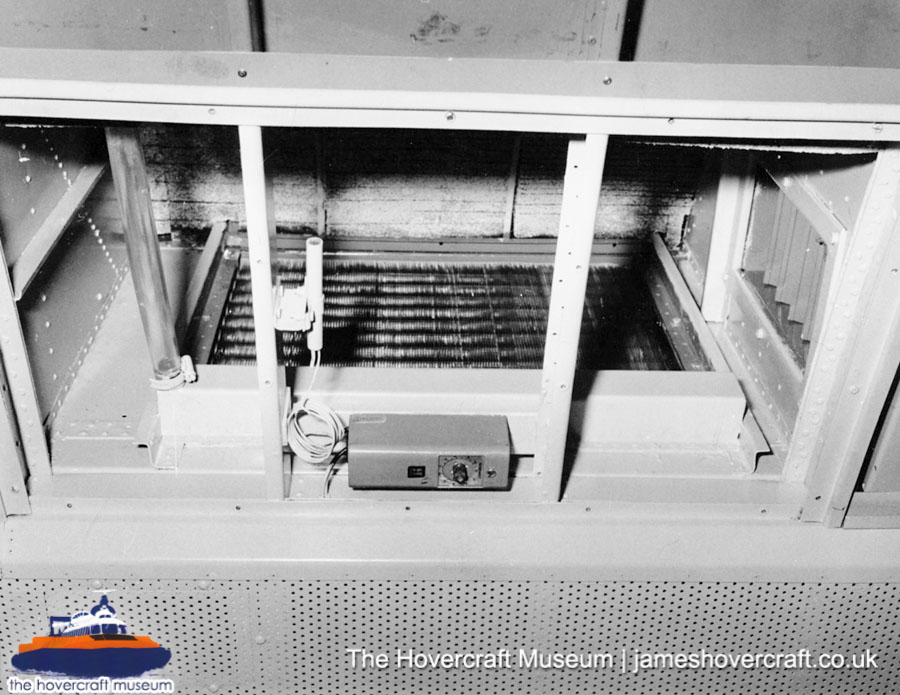 SRN6 close-up details - Radiator (The Hovercraft Museum Trust).