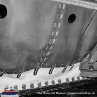 SRN6 close-up details - Skirt (The Hovercraft Museum Trust).