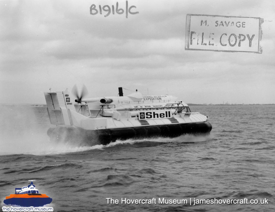 SRN6 - trans-African adventure -   (The Hovercraft Museum Trust).
