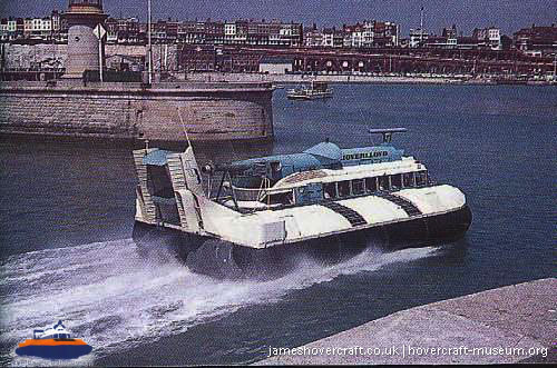 SRN6 with Hoverlloyd -   (The <a href='http://www.hovercraft-museum.org/' target='_blank'>Hovercraft Museum Trust</a>).