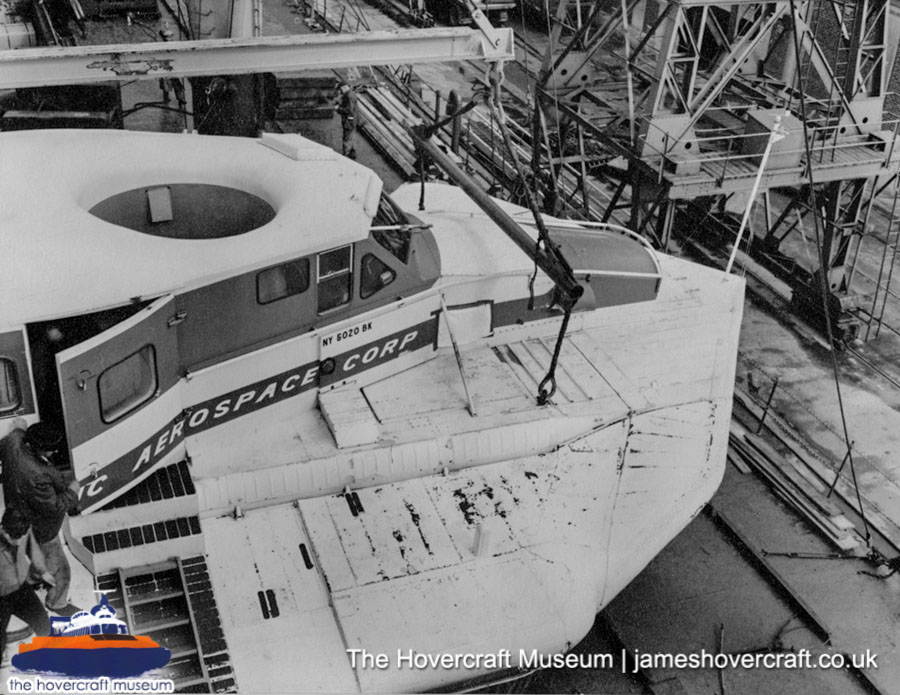 Vickers VA3 being built -   (The Hovercraft Museum Trust).