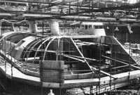 Vosper-Thornycroft VT1 under construction -   (The <a href='http://www.hovercraft-museum.org/' target='_blank'>Hovercraft Museum Trust</a>).