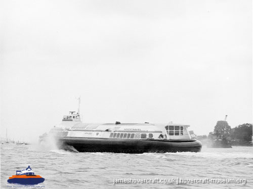 Vosper-Thornycroft VT1 in service -   (The <a href='http://www.hovercraft-museum.org/' target='_blank'>Hovercraft Museum Trust</a>).