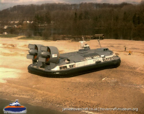 Vosper-Thornycroft VT2 in service -   (The <a href='http://www.hovercraft-museum.org/' target='_blank'>Hovercraft Museum Trust</a>).