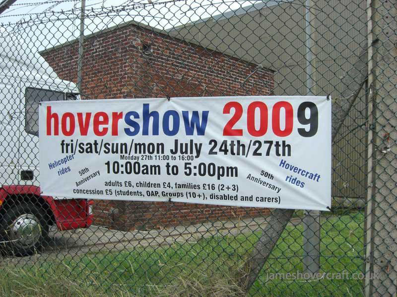 Walking around at the 2009 Hovershow - Banner for the show outside HMS Daedalus (James Rowson).