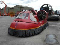 BAA's Hoverguard 80 at the 2011 Hovershow - BAA Heathrow Fire Department's old Hoverguard 80 at the Hovercraft Museum (James Rowson).