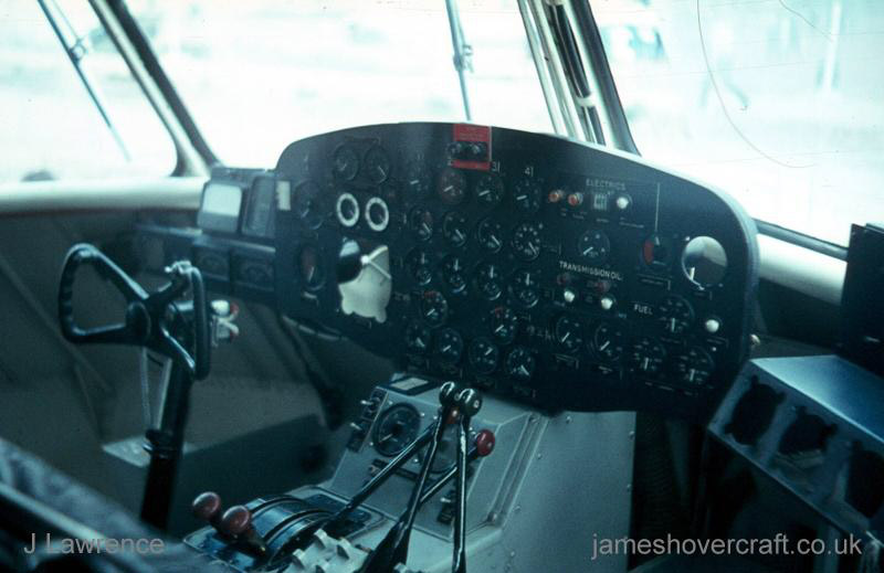 The SRN2 - Cockpit of the SRN2 (Pat Lawrence).