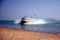 The SRN3 with the Inter-Service Hovercraft Trials Unit, IHTU - Arriving (Pat Lawrence).