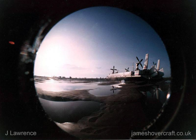 The SRN4 on the Goodwin Sands - Fisheye shot (Pat Lawrence).