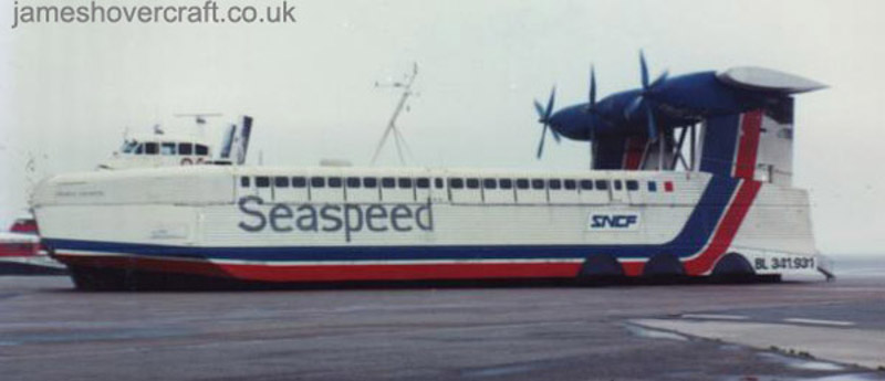 The SEDAM N500 - N500 at Pegwell Bay hoverport (Mike Fuller).