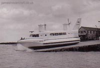 The SRN2 at Westland - Departing from the Westland slipway at Cowes (Peter Insole).