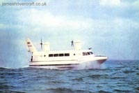 The SRN2 - In cruise during trials on the Solent (Michael Gardner by J A Dixon).