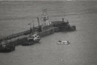 The SRN6 operations from Dover - Free-floating near the Eastern breakwater (Nigel Thornton).
