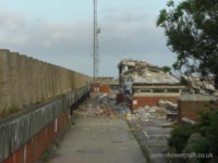 Dover Hoverport being demolished, July 2009 - The last structures of hoverspeed engineering (James Rowson).