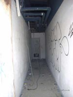 A recce of the derelict buildings of the old Boulogne Hoverport - An access corridor within the building (N Levy).