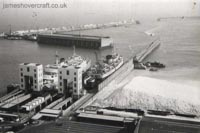 The Dover Eastern Docks, and when there was a Seaspeed hoverport there - Initial construction of the hoverport (Nigel Thornton).