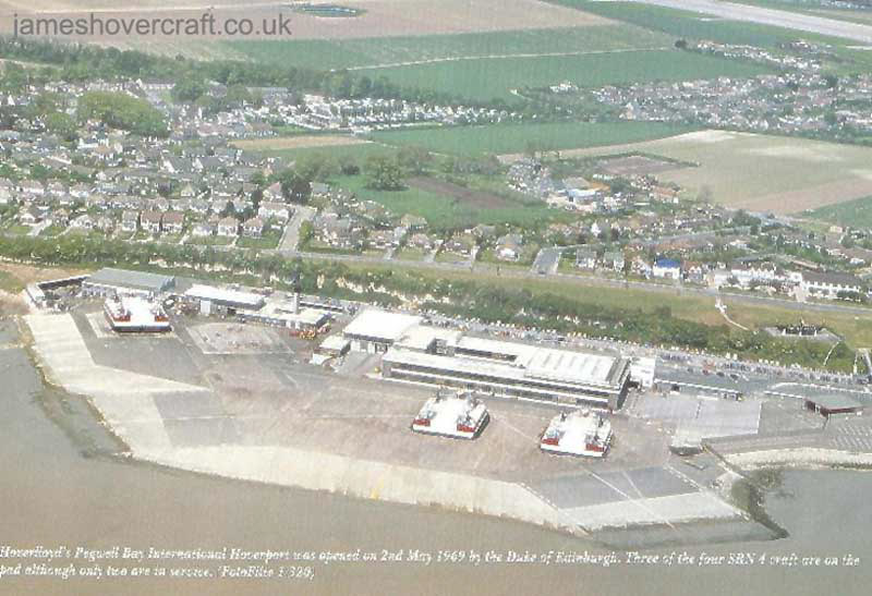 Pegwell Bay Hoverport, Ramsgate from the air