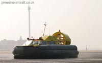 Tiger 12 hovercraft in operation with Hovercraft Rental - Operating on the mudflats off Rhyl ().
