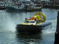 Tiger 12 hovercraft in operation with Hovercraft Rental - Operating in the marina ().