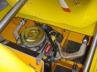 Restoring an old Tiger 12 hovercraft to a fully working state - Overview of the engine bay ().